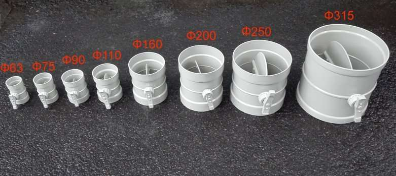 all-PP-duct-air-dampers