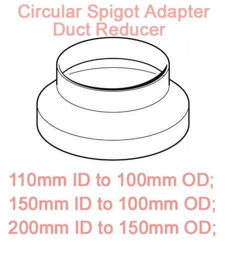 Circular Spigot Adapter Duct Reducer