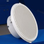 Round egg crate grille with volume control damper 12