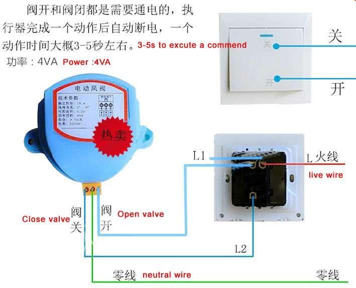 electronic volume control damper excutor