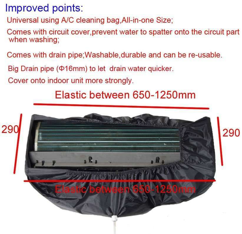 Air conditioner cleaning bag