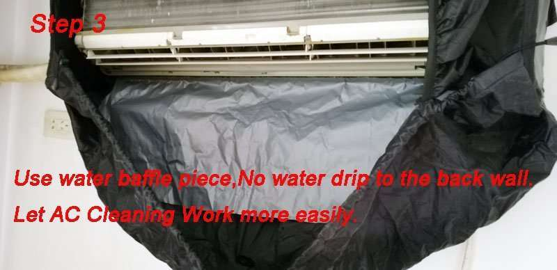 Air Conditioner Cleaning Cover V2.0,All-in-one size,AC washing bags 21