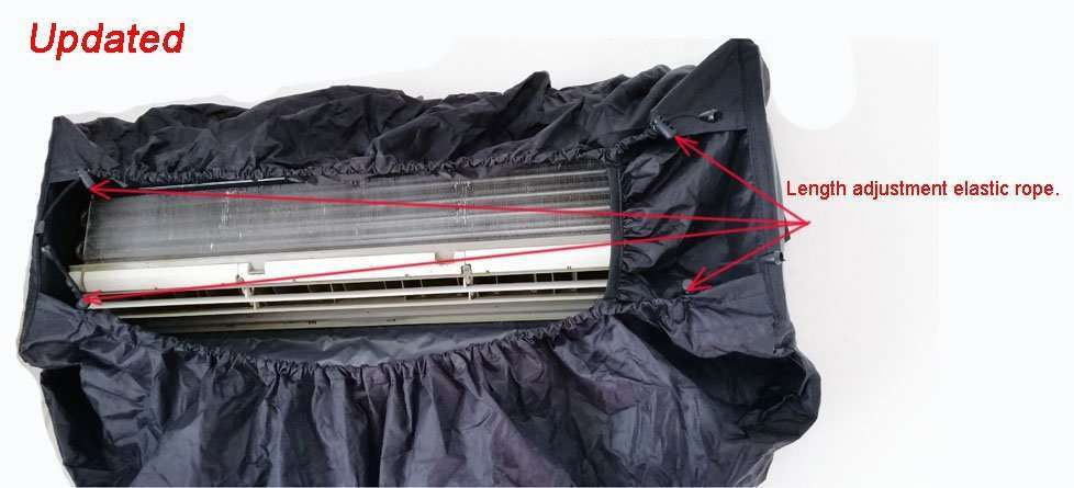 Air Conditioner Cleaning Cover V2.0,All-in-one size,AC washing bags 2