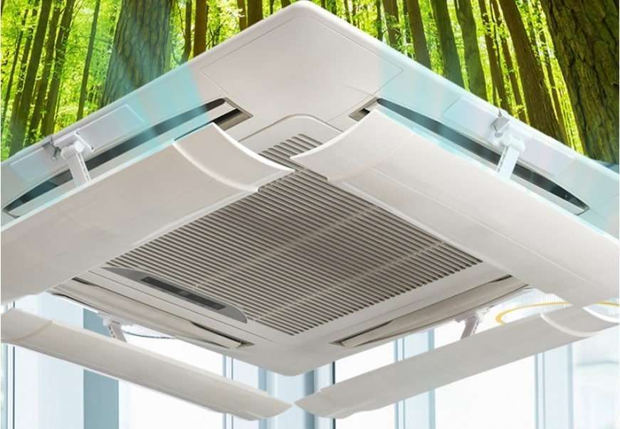 air diverter for ceiling mounted air conditioner