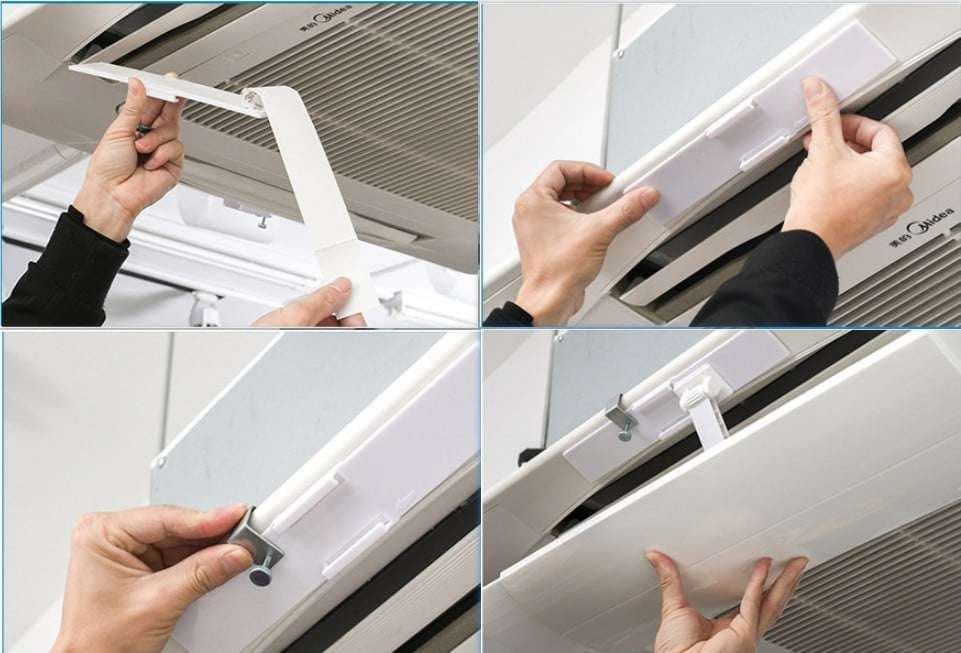 how to install air wing for ceiling mounted air conditioner