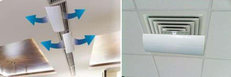 square air diffuser deflector air wing