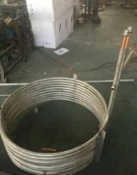 Tube in tube coil heat exchanger,for solar tank,for heat pump water tank