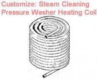 Burner heating coil for steam pressure washer