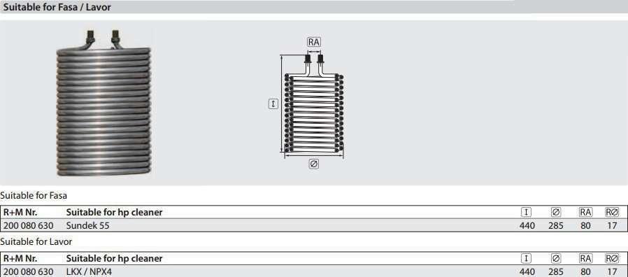 fasa-lavor-boiler-heating-coil