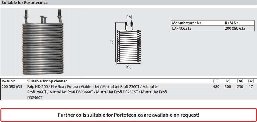 portotecnica-burner-heating-coil