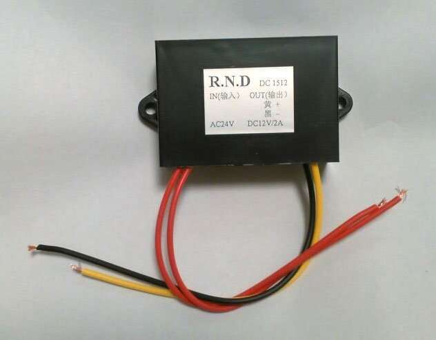 AC24V to DC12V DC5V voltage converter