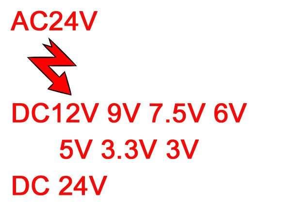 AC24V To DC24V 12V 9V 7.5V 6V 5V 3.3V 3V converter