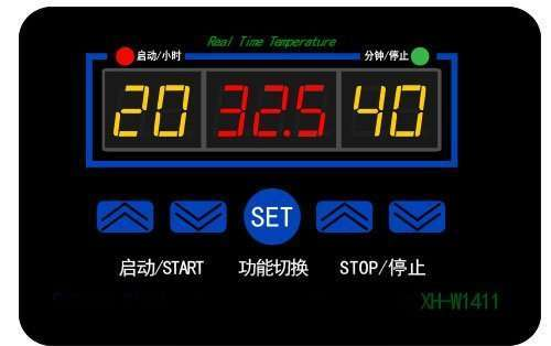 Digital Thermostat module Model XH-W1411 front panel