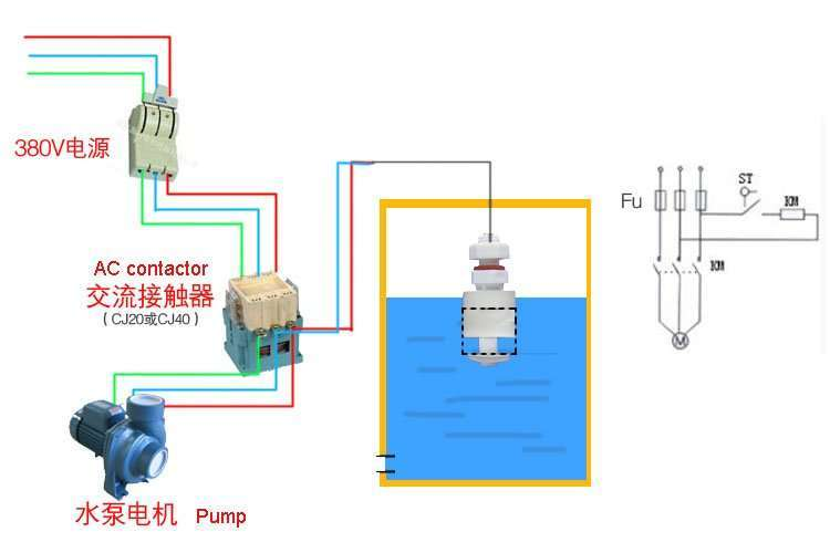 Water level sensor switch 4