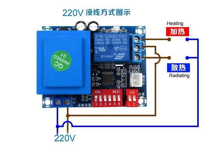 XH-W1705 wiring 220v