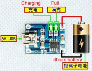 smartclima wiring of tp4056 1a lithium battery charging board rh smartclima com onboard charger wiring Board Off and On Board Charger