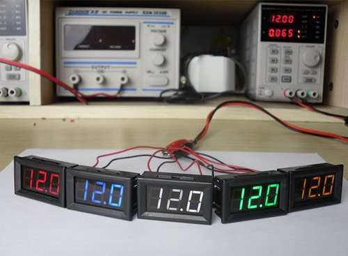 DC Voltage Displaying and Measuring Meter DC4.5-120V 6