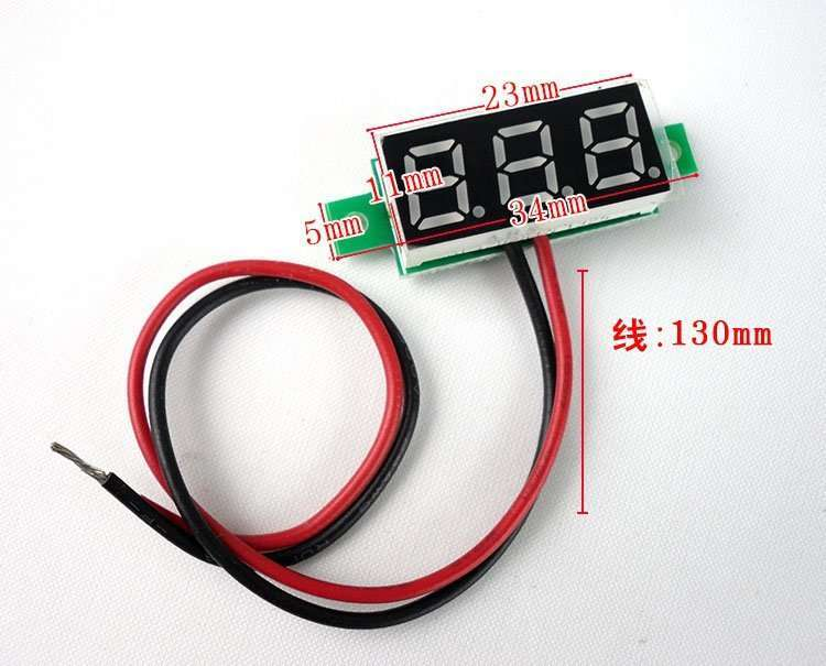 DC Voltage Displaying and Measuring Meter DC3.5-32v 6
