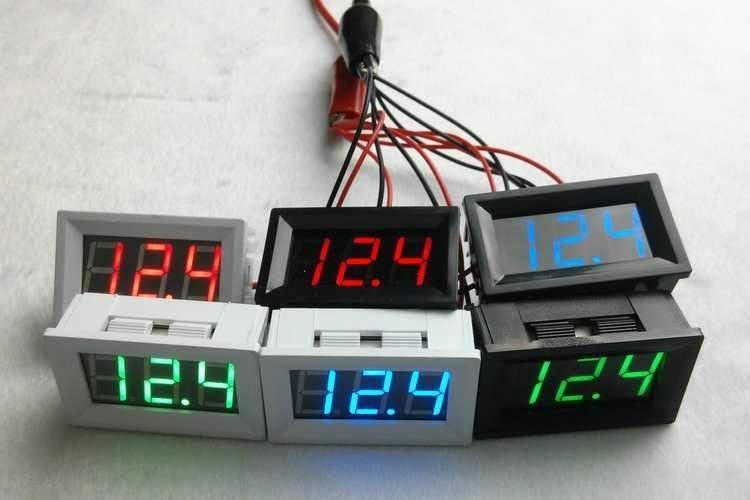 DC48V Digital Voltage Displaying and Measuring Meter DC5-68V 5
