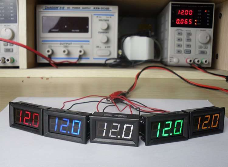 DC48V Digital Voltage Displaying and Measuring Meter DC5-68V 12