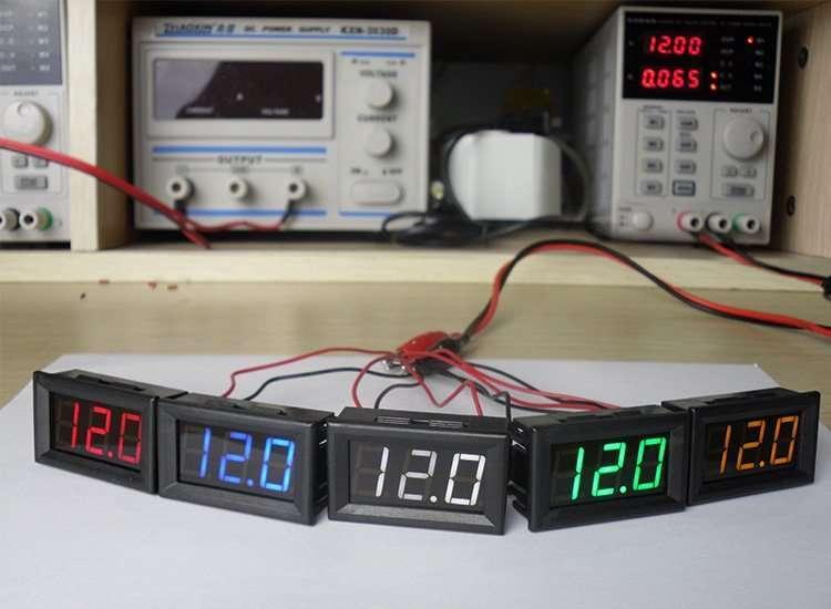 DC48V Digital Voltage Displaying and Measuring Meter DC5-68V 6