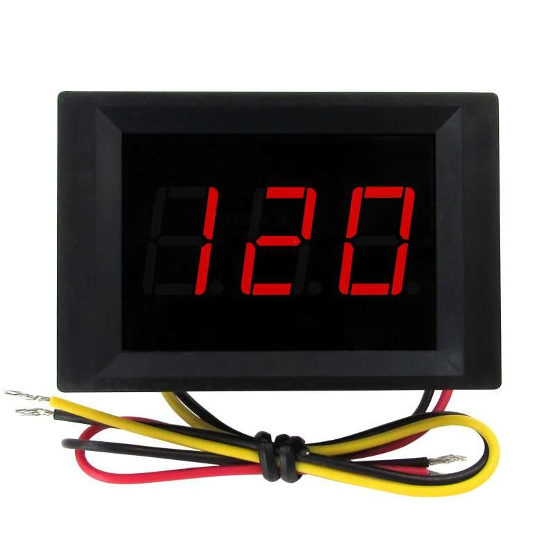 Four wires Voltage Displaying and Detecting Meter DC0-120V 2
