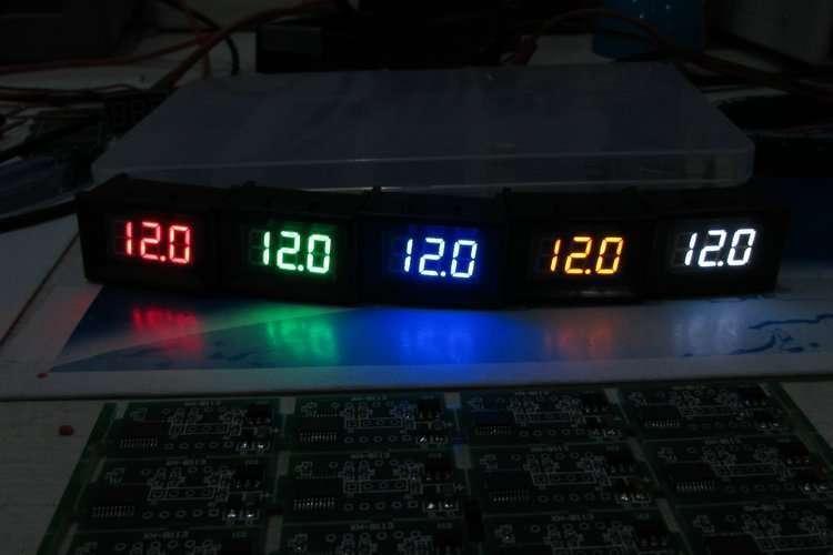 DC48V Digital Voltage Displaying and Measuring Meter DC5-68V 15