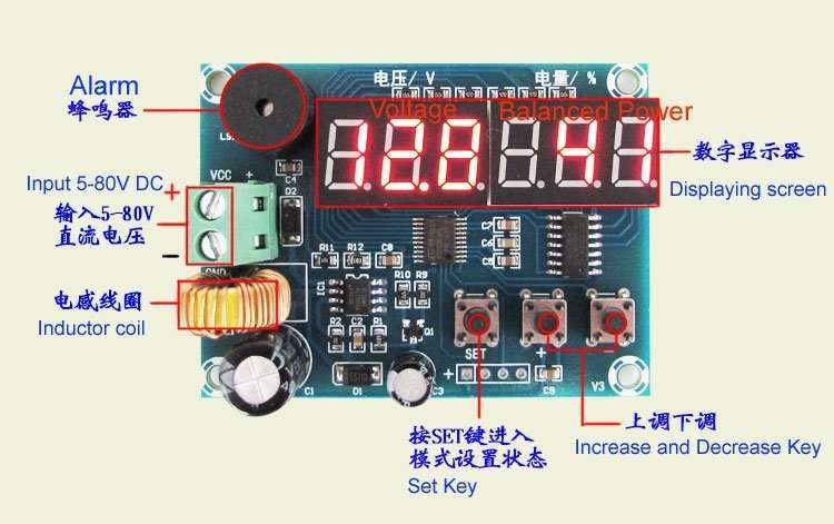 DC Power Consumption and Balanced Power Displaying Module XH-M241 3