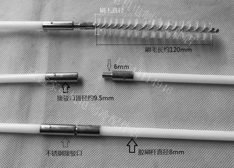 Chiller tube cleaning brush and rod,Spiral tube brush for condenser heat exchanger tube cleaner 3