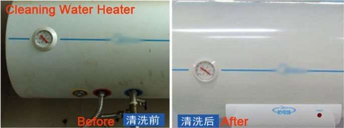 cleaning water heater and heat exchanger