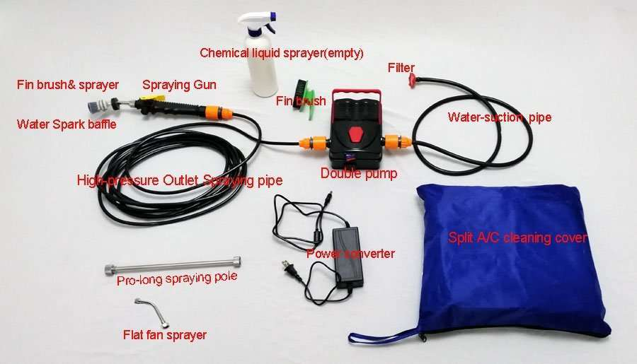 AC Coil Cleaning Pump Machine Tool Kit,Type B 3