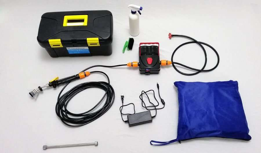split air conditioning cleaning and maintenance tool kit