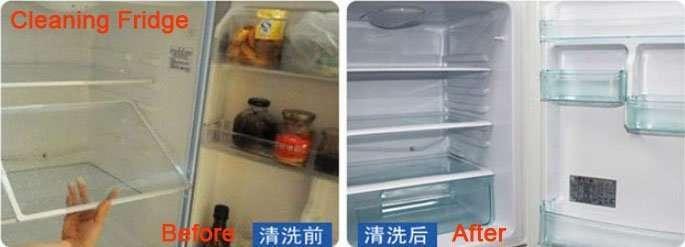 cleaning fridge