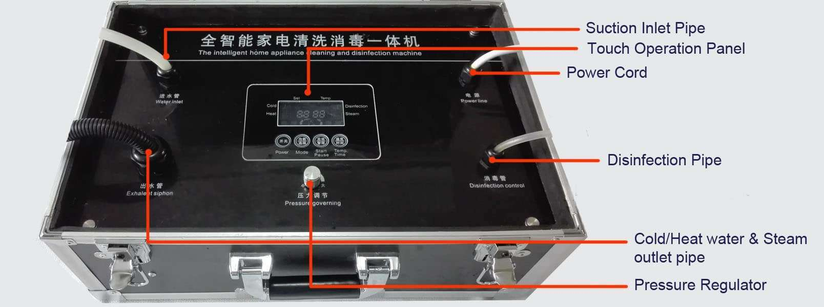 multifunction-deeply cleaning-machine-operation-panel