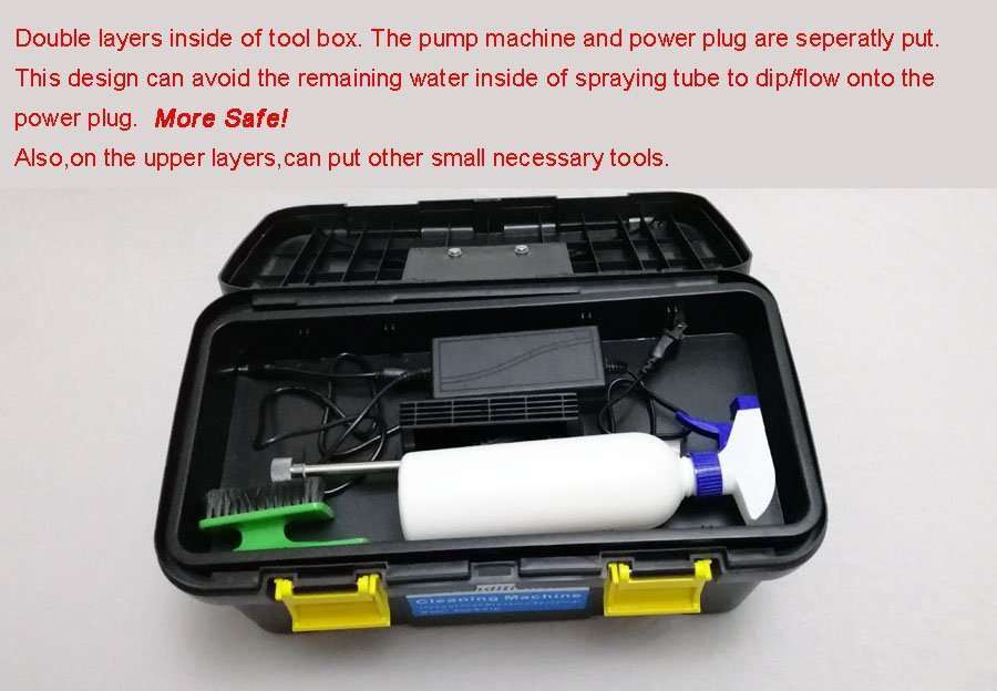 two-layers-of-tool-box for ac cleaning machine pump