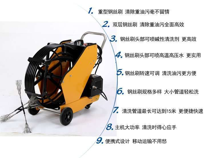 Kitchen Exhaust and Grease Duct Cleaning Machine,easy to clean oiled duct 5