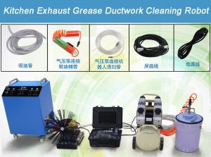 Kitchen Exhaust Grease Ductwork Cleaning Robot 19