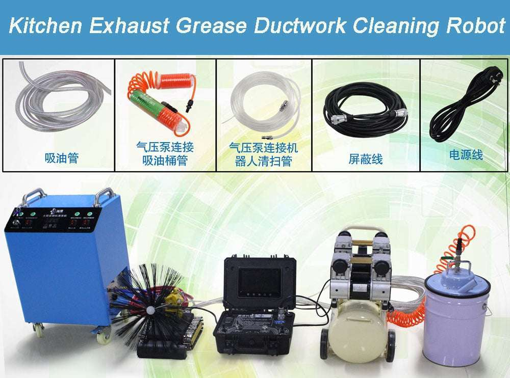 Kitchen Exhaust Grease Ductwork Cleaning Robot 2