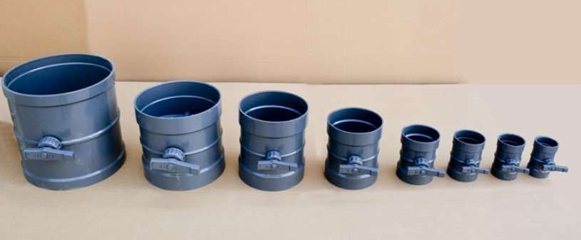 PVC Duct Butterfly Damper Valve 148