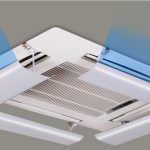 Air diverter for ceiling cassette unit,type of non-adhesive 63