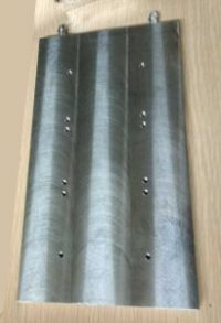 Big size flat aluminium heat exchanger