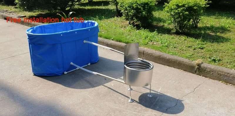 Free installation hot tub foldable