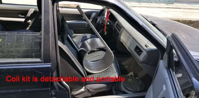 heater coil kit is put in car