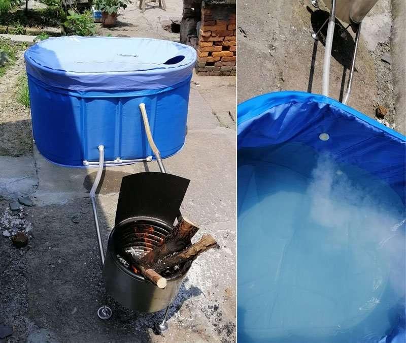 outdoor hot bathtub portable