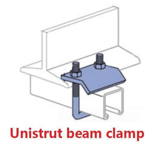 Unistrut Beam Clamps for C shaped steel channel