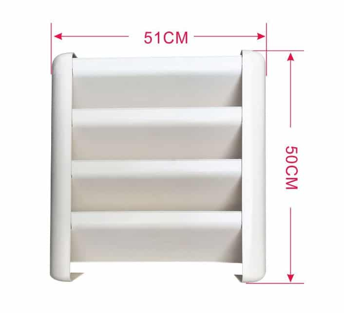air conditioner outdoor unit side air supply deflector