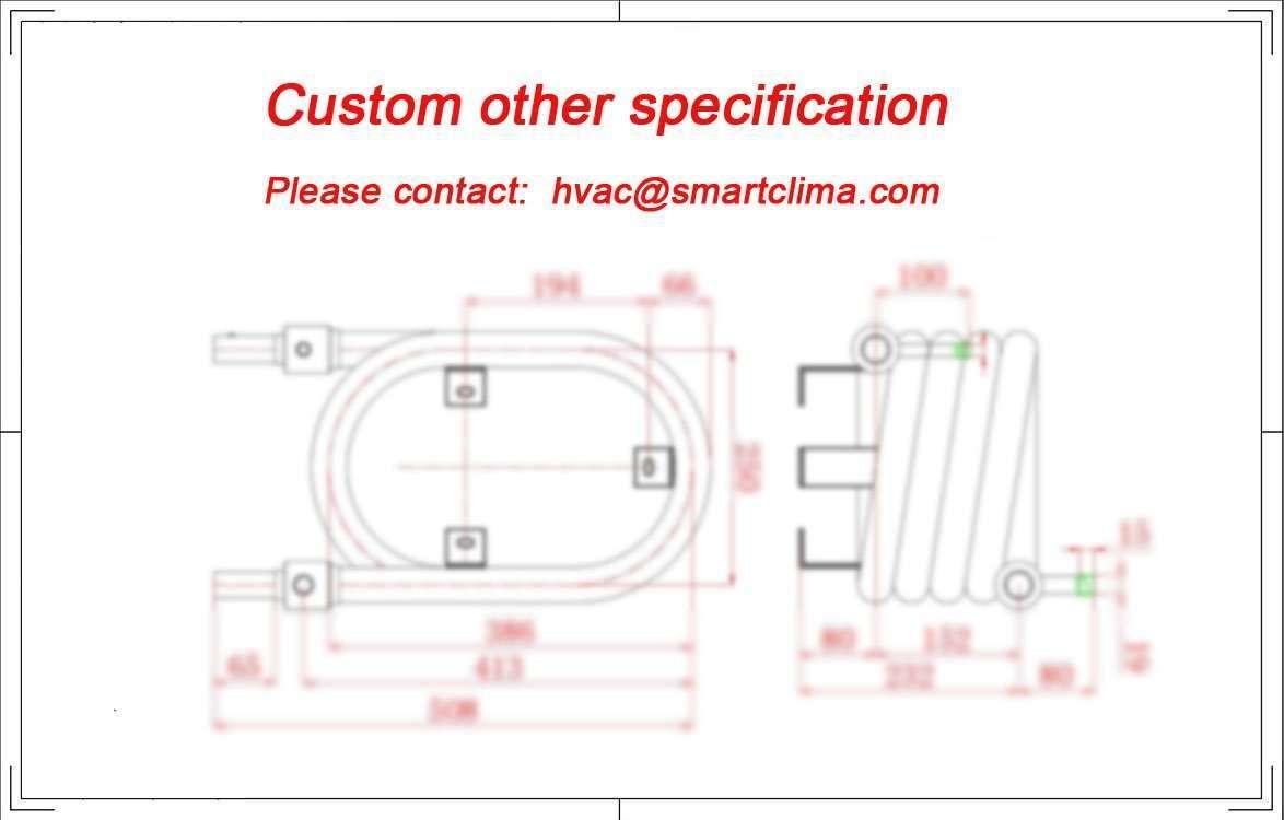 Tube in Tube evaporator Coaxial Heat Exchanger condenser 8