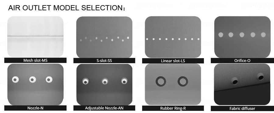 AIR OUTLET MODEL SELECTION