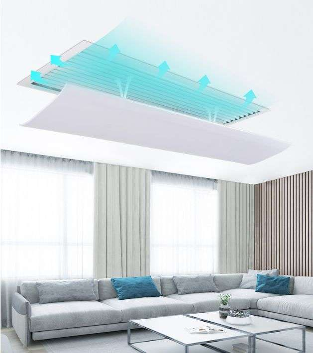 Air deflector for ceiling air grille 4