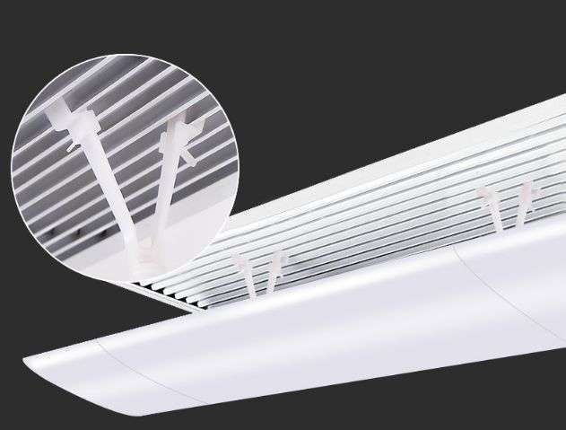 Air deflector for ceiling air grille 10